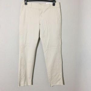 LOFT Marisa Girlfriend Chino Pants Embroidered